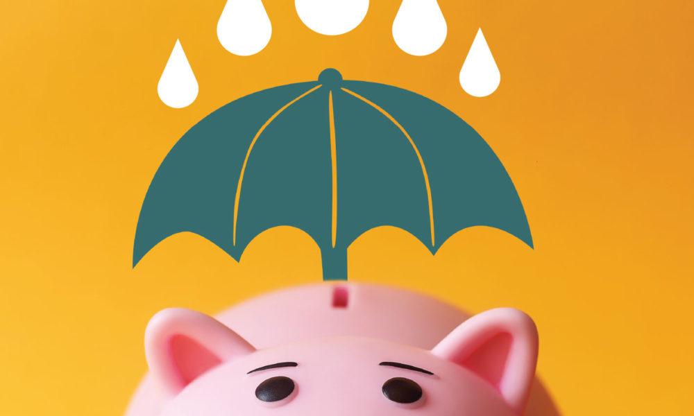 Piggy Bank with Umbrella